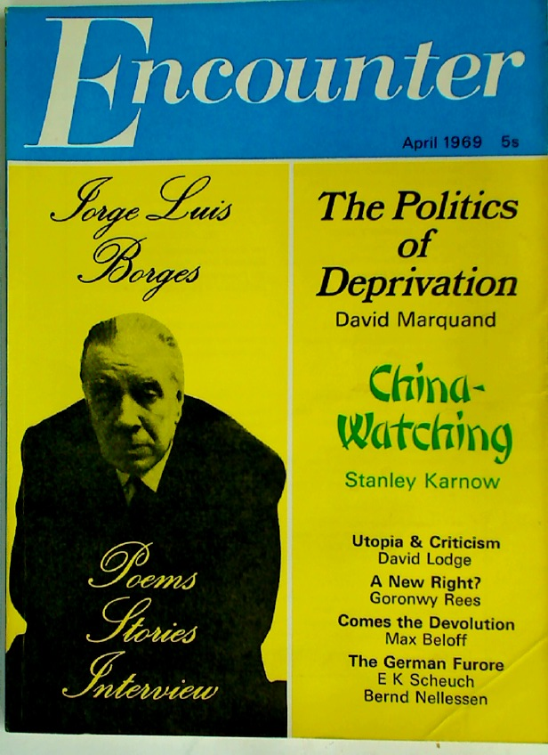 Jorge Luis Borges: An Anthology. Special Section in Encounter, April 1969, #187 Volume 32, No 4.
