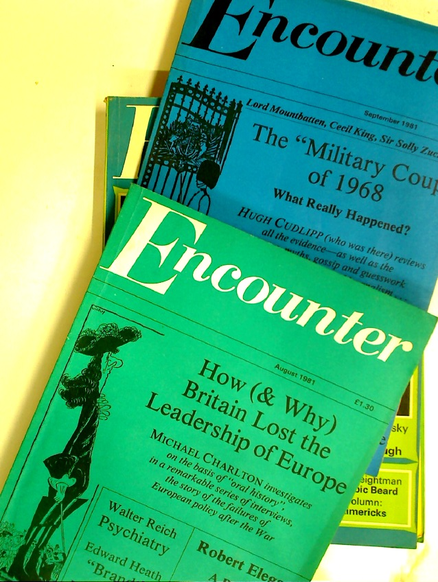 How (& Why) Britain Lost the Leadership of Europe. Essay in two issues of Encounter (# 334 & 335, August & September 1981)