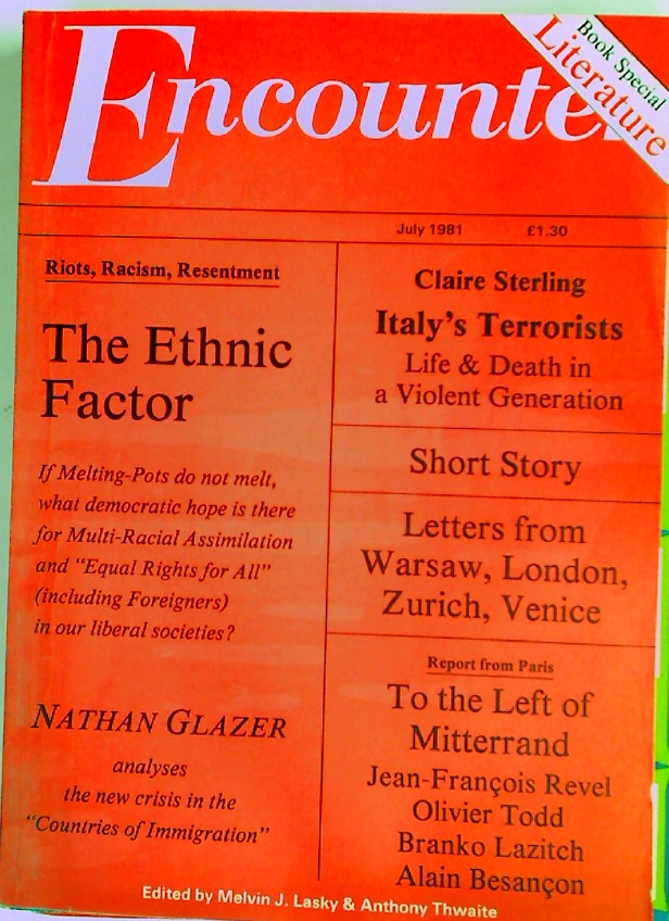 Italy's Terrorists. Life and Death in a Violent Generation. Essay in Encounter # 333, July 1981.