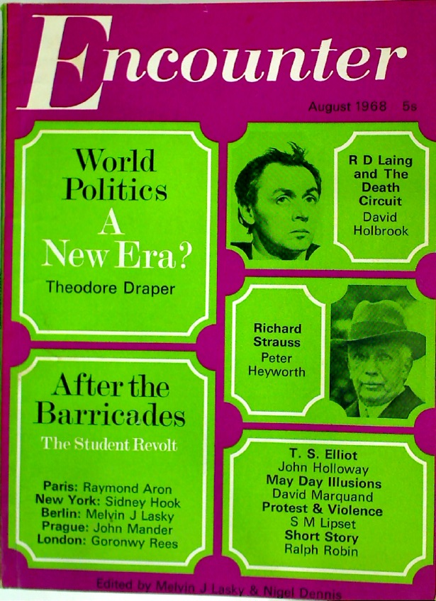After the Baricades. Essay in Encounter, August 1968, #179 Volume 32, No 2.