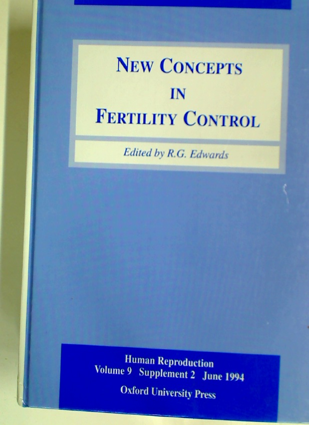 New Concepts in Fertility Control. (Human Reproduction, Vol 9, Supplement 2, June 1994)