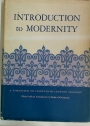 Introduction to Modernity: A Symposium on Eighteenth-Century Thought.