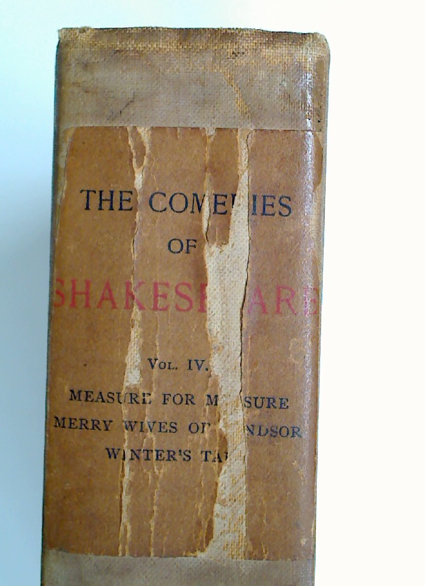 The Comedies of William Shakespeare. With many Drawings by Edwin A Abbey. Volume 4 ONLY.