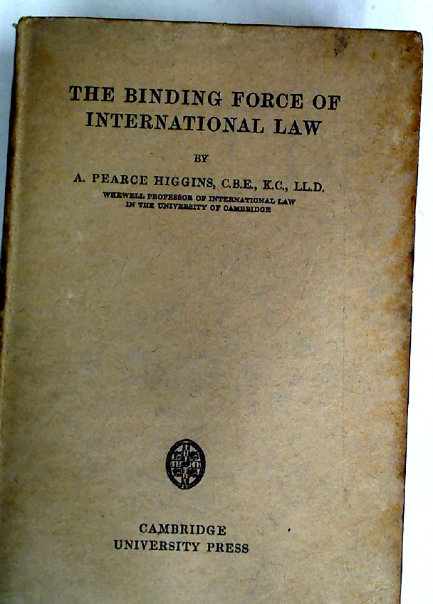 The Binding Force of International Law.