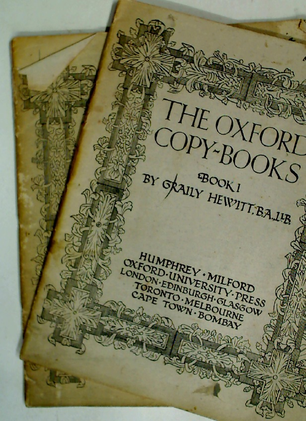 The Oxford Copy-Books - Book 1 and 2.