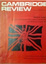 Cambridge Review. A Journal of University Life and Thought. Friday 18 October 1968.
