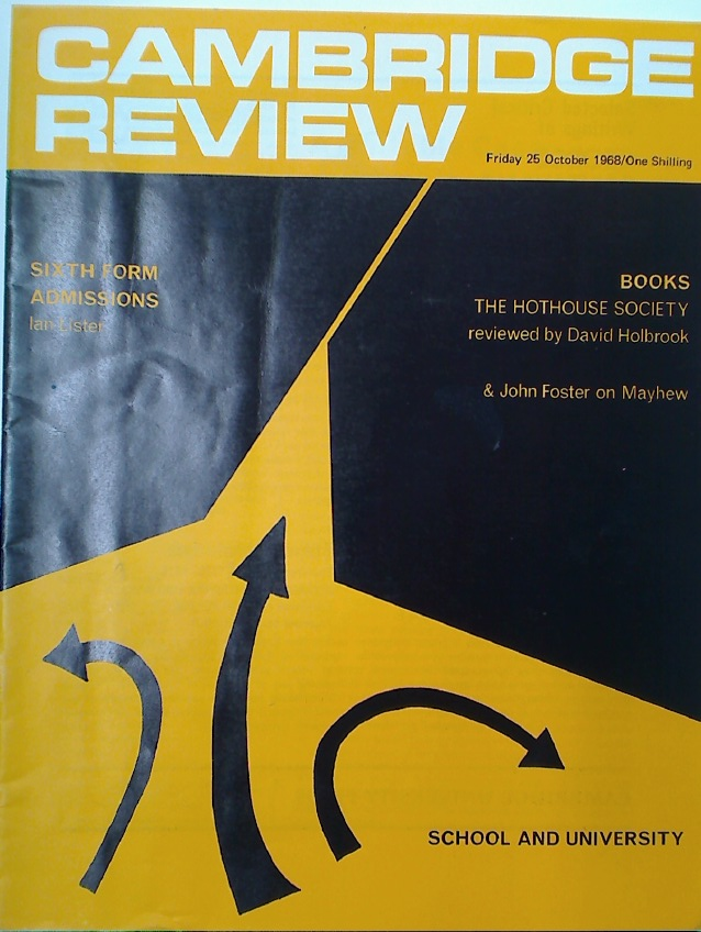 Cambridge Review. A Journal of University Life and Thought. Friday 25 October 1968.