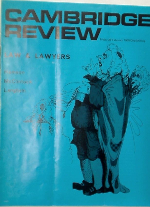Cambridge Review. A Journal of University Life and Thought. 28 February 1969.