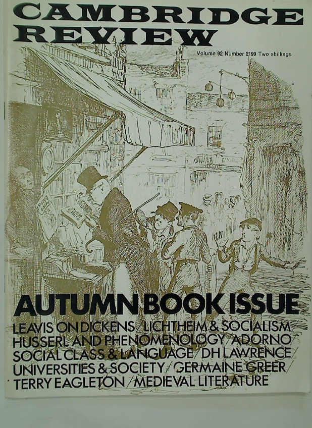Cambridge Review. A Journal of University Life and Thought. 25 October 1969.