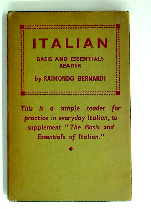 Italian Basis and Essentials Reader.