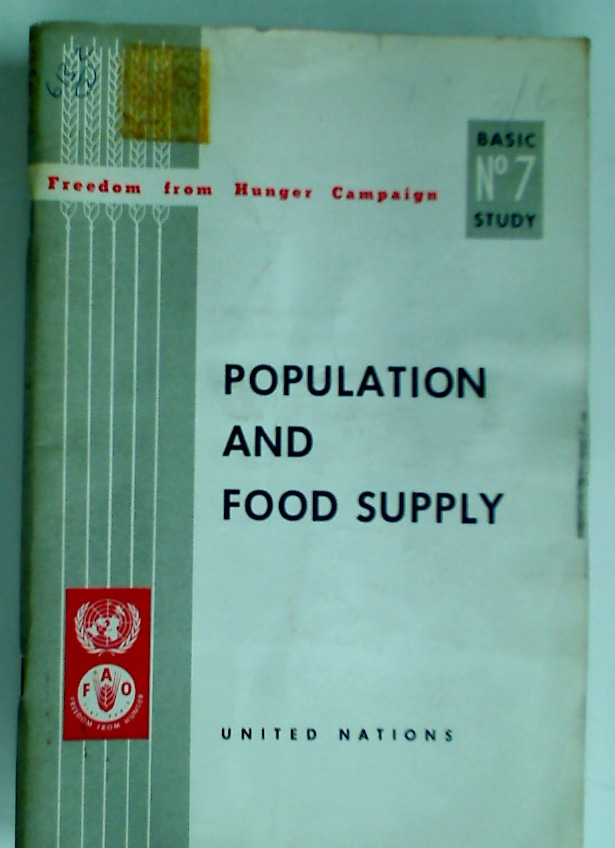 Population and Food Supply.