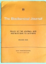The Biochemical Journal. Policy of the Journal and Instruction to Authors. Revised 1969.