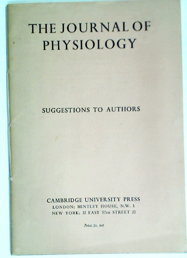 The Journal of Physiology. Suggestions to Authors.