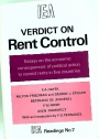Verdict on Rent Control. Essays on the Economic Consequences of Political Action to restrict Rents in Five Countries.