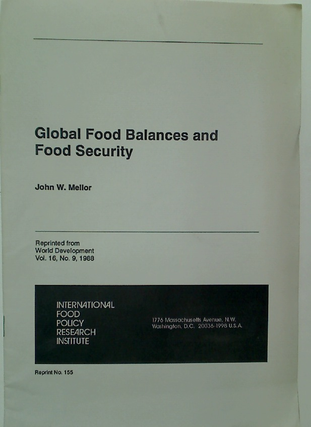 Global Food Balances and Food Security.