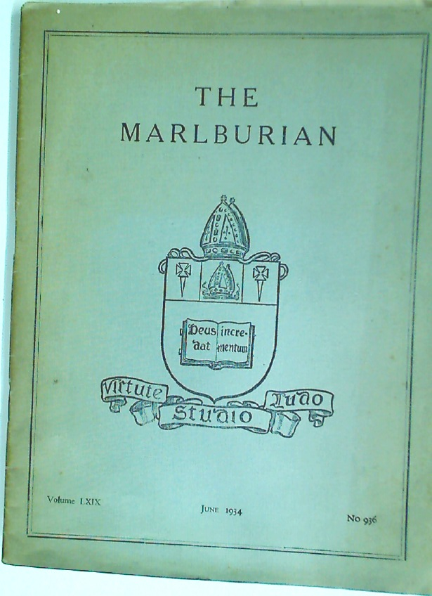 The Malburian. No 936, Volume 69, June 1934.
