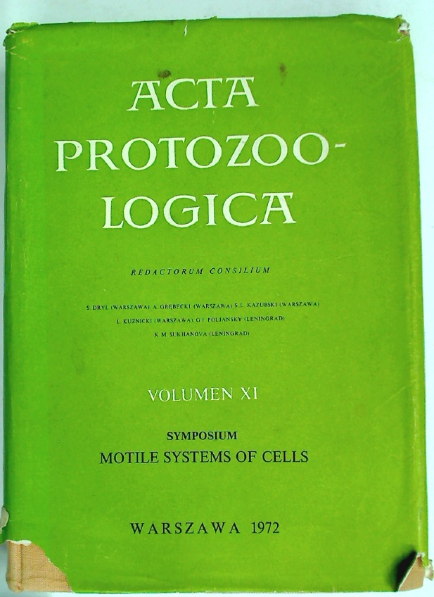 Acta Protozoologica. Volume 11: Symposium: Motile Systems of Cells. Krakow, August 3 - 7, 1971.