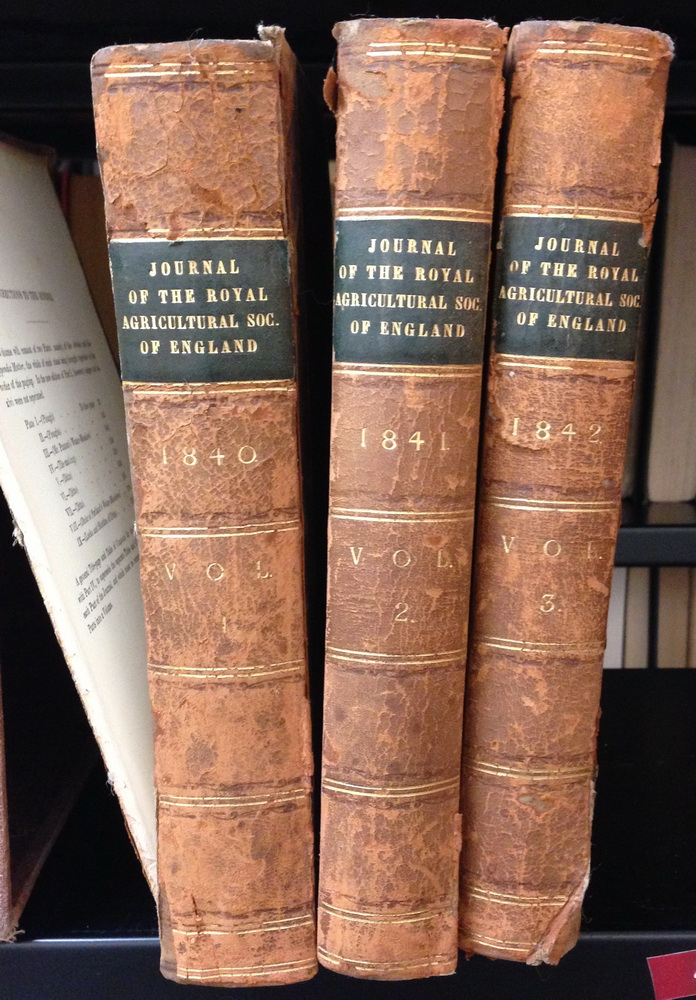 The Journal of the Royal Agricultural Society of England. Volumes 1 - 3 (1840 - 1842)