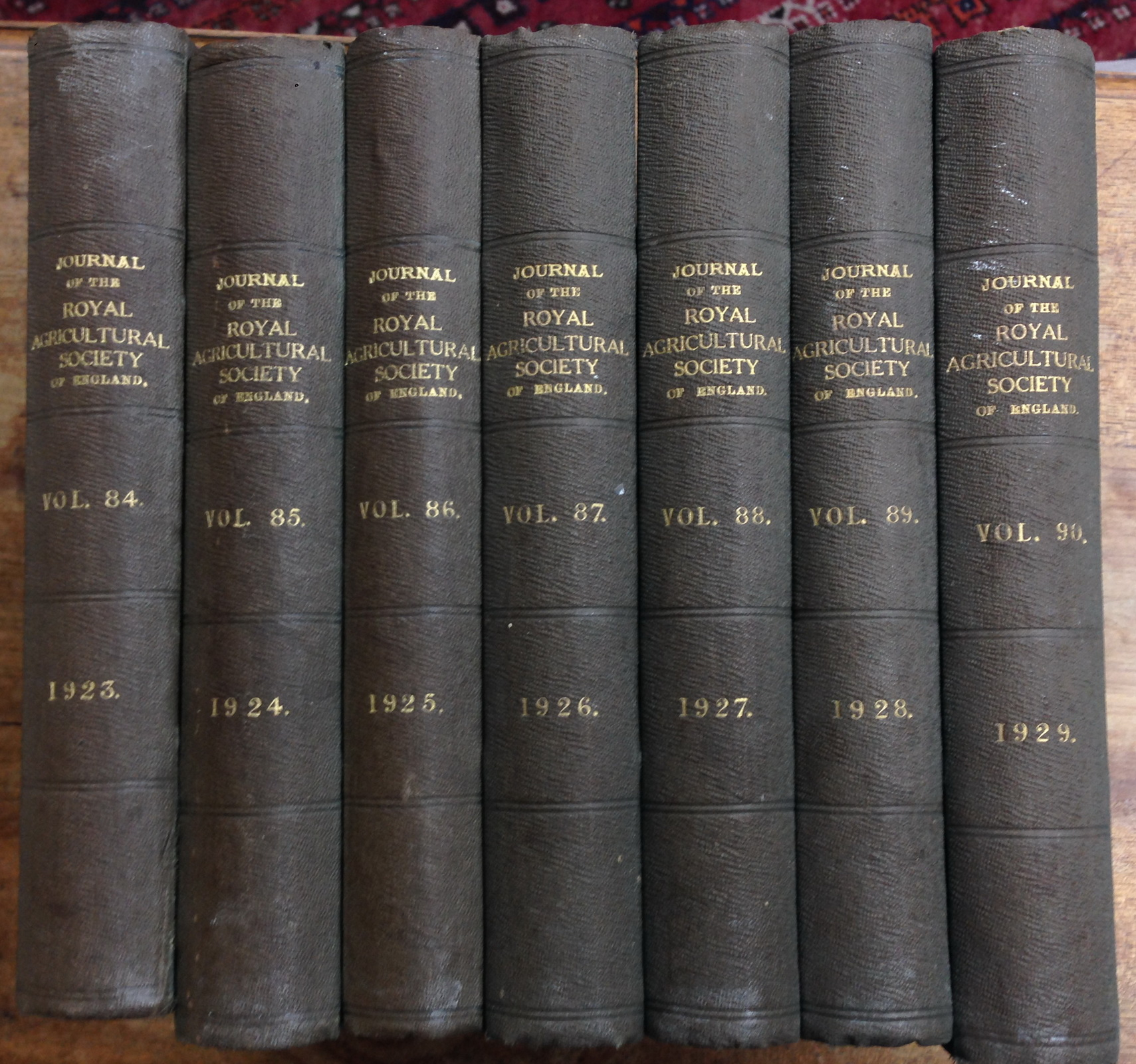 The Journal of the Royal Agricultural Society of England. Volumes 84 (1923) - Volume 90 (1929)