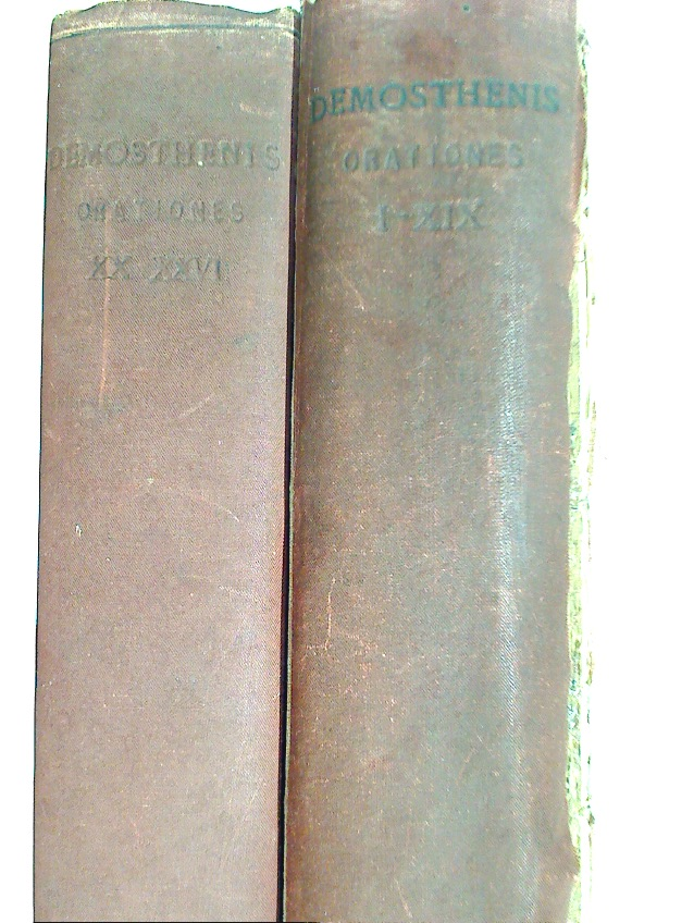 Demosthenes Orationes. Ed. S H Butcher. Volume 1 and 2.