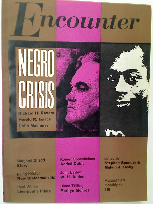 """Negro Crisis"". Article in Encounter, August 1963."