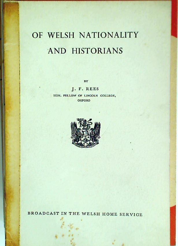 Of Welsh Nationality and Historians.