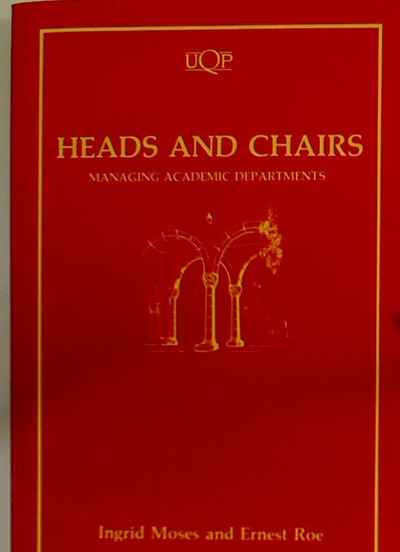 Heads and Chairs. Managing Academic Departments.
