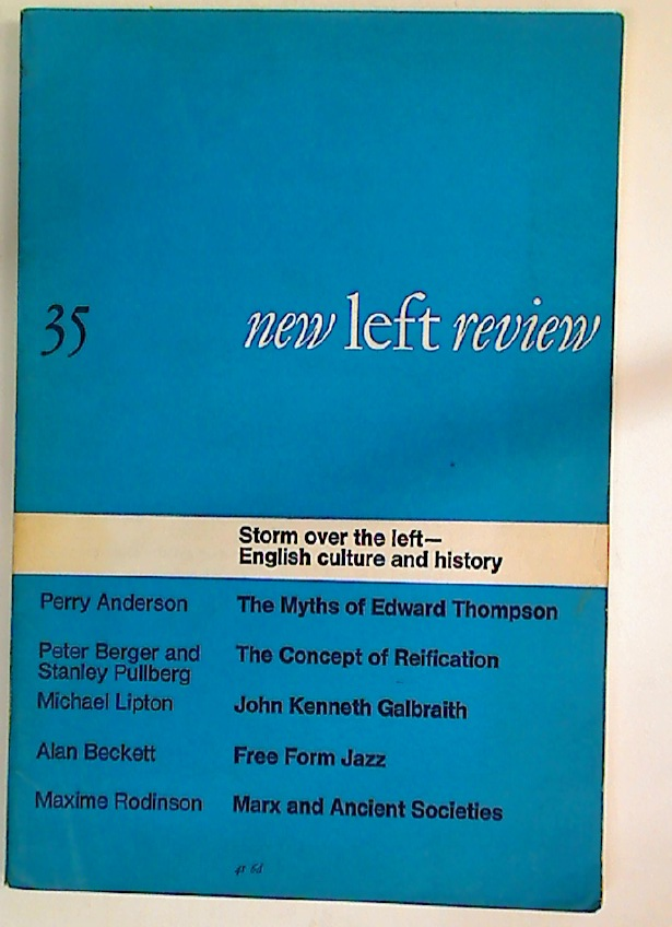 Socialism and Pseudo-Empiricism. New Left Review Number 35.