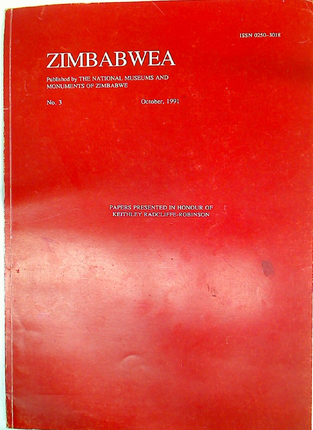 Shona Ethnography and the Interpretation of the Iron Age Zimbabwe Burials: The Significance of Burial Locations. Zimbabwea Number 3, October 1991.