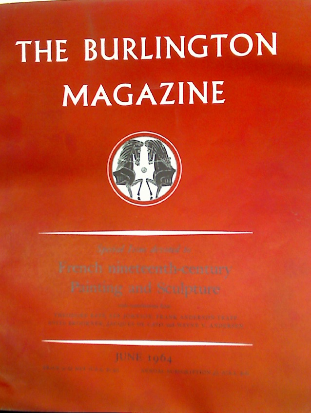 A Special Issue Devoted to French Nineteenth Century Painting and Sculpture, Burlington Magazine, June 1964.