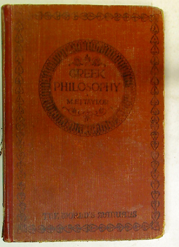 Greek Philosophy. An Introduction.