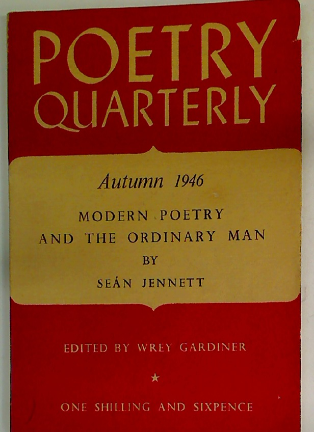 Poetry Quarterly. Autumn 1946. Volume 8, Number 3.