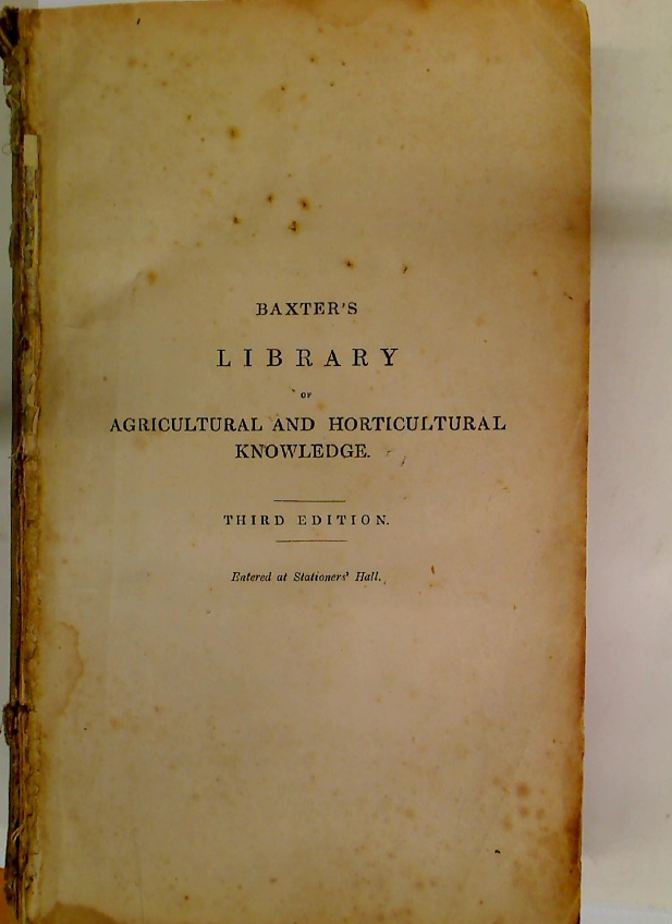 The Library of Agricultural and Horticultural Knowledge. Third Edition.