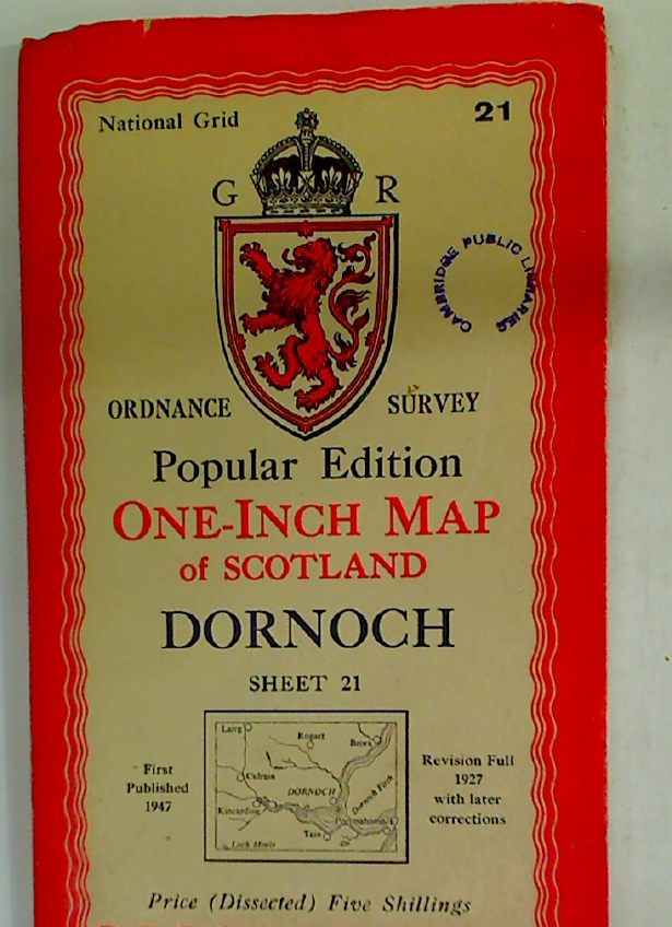 New Popular Edition. One-Inch Map of Scotland. Dornoch. Sheet 21.