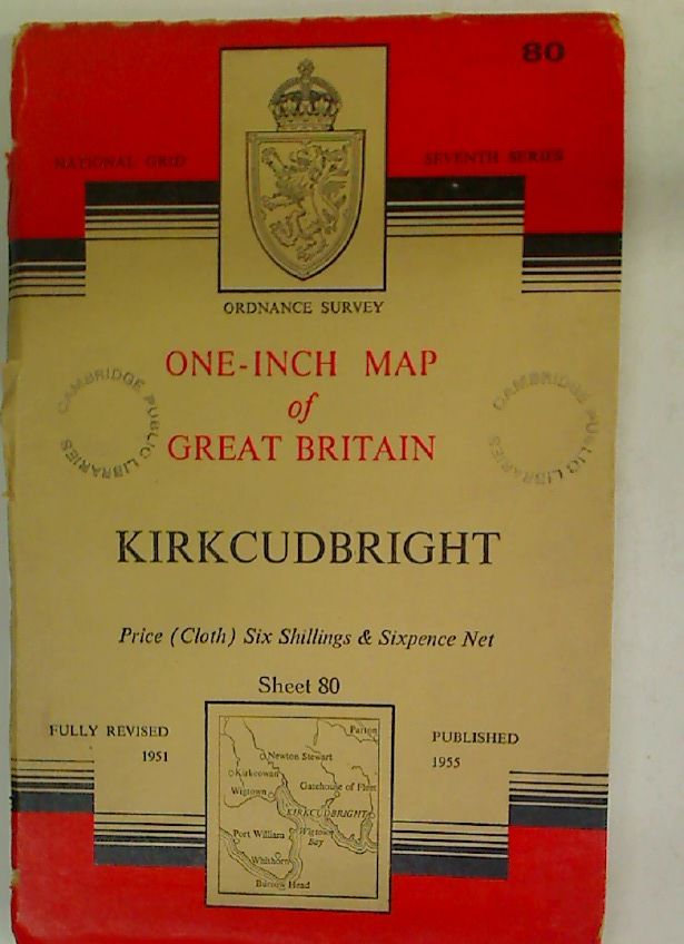 One-Inch Map of Great Britain. Kirkcudbright. Sheet 80.