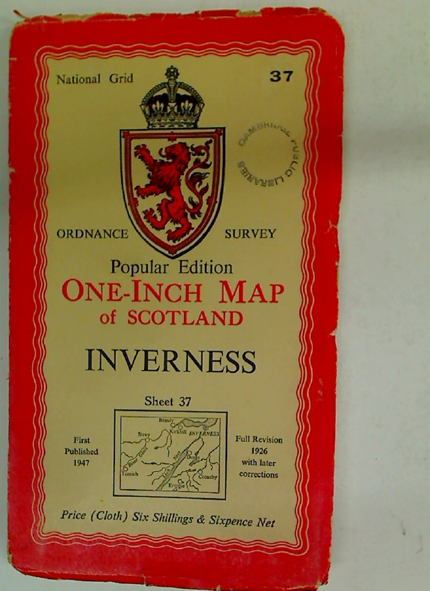 Popular Edition. One-Inch Map of Scotland. Inverness. Sheet 37.