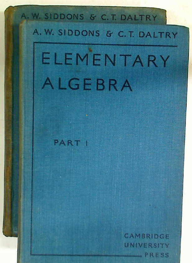 Elementary Algebra. Volumes 1 and 2. Complete Set.