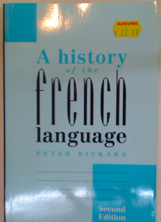 A History of the French Language.