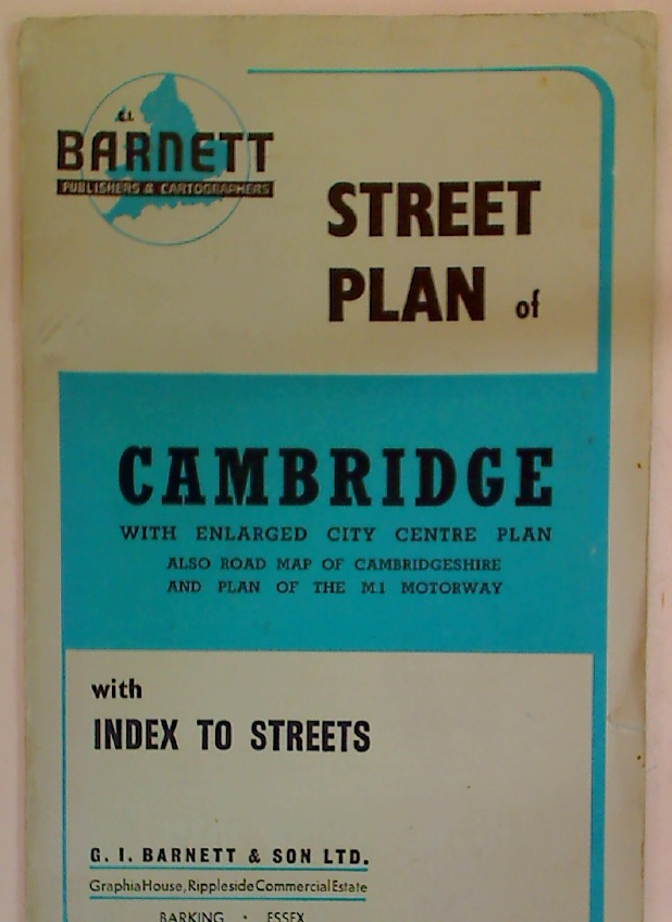 Barnett\'s Street Plan of Cambridge with Enlarged City Centre Plan.