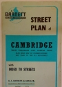Barnett's Street Plan of Cambridge with Enlarged City Centre Plan.