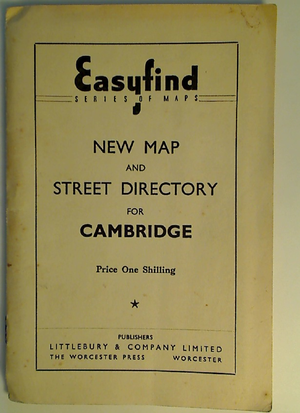 New Map and Street Directory for Cambridge.