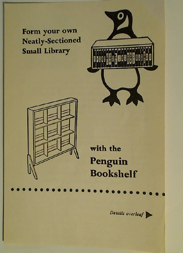 Form your own Neatly-Sectioned Small Library with the Penguin Bookshelf.