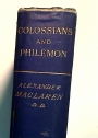 Colossians and Philemon.