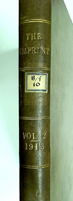 The Imprint. Volume 2, 1913.