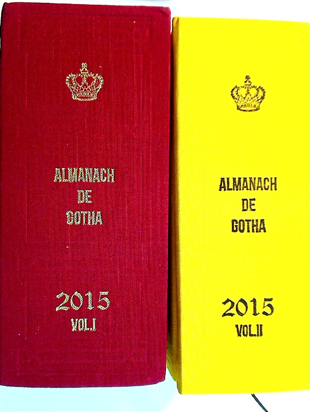 Almanach de Gotha 2015. Volumes 1 and 2. Complete Set.