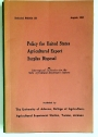 Policy for United States Agricultural Export Surplus Disposal. Technical Bulletin 150.