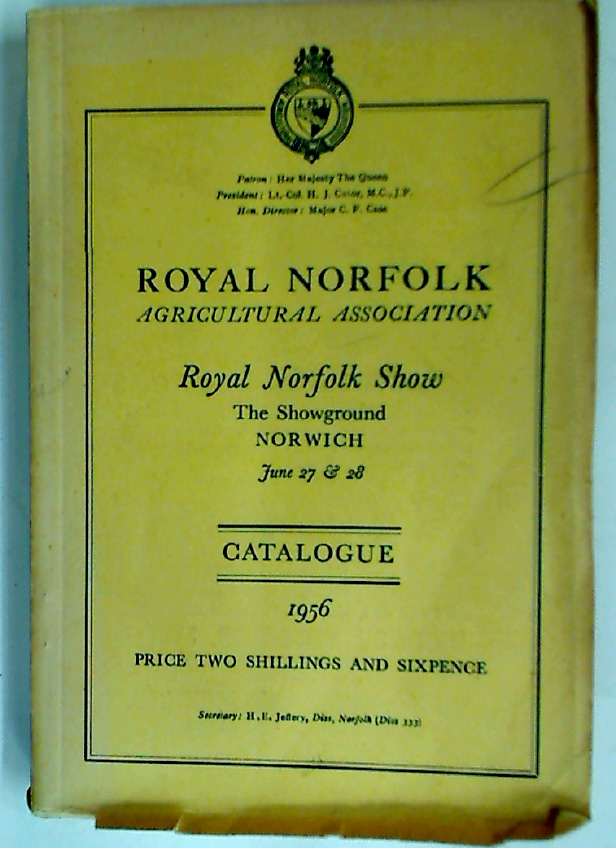 Royal Norfolk Show 1956. Catalogue.
