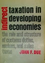 Indirect Taxation in Developing Economies. The Role and Structure of Customs Duties, Excises, and Sales Taxes.