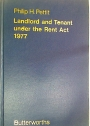 Landlord and Tenant Under the Rent Act 1977.