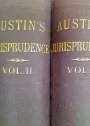 Lectures on Jurisprudence, or The Philosophy of Positive Law. Volumes 1 and 2. Complete Set.